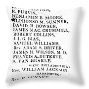 Black Candidates, C1835 Throw Pillow