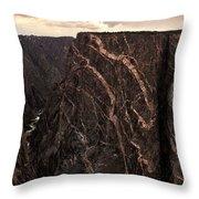 Black Canyon National Park In Colorado Throw Pillow