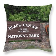 Black Canyon Of The Gunnison National Park Throw Pillow