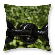 Black Chain Throw Pillow