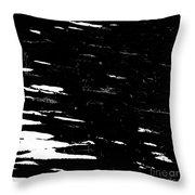 Black Cinders In Winter Throw Pillow