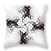 Black Cross Throw Pillow
