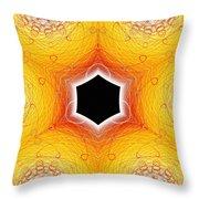 Black Cube Throw Pillow