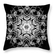 Black Diamond Princess Pendant Throw Pillow