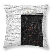 Black Door Throw Pillow