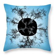Black Earth Alone Throw Pillow