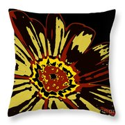 Black Eye Susanna Throw Pillow