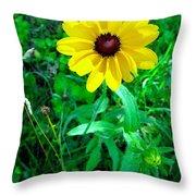 Black Eyed Beauty Throw Pillow