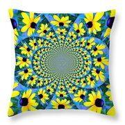 Black Eyed Susan Kaleidoscope Throw Pillow