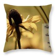 Black-eyed Susan  Psalm Throw Pillow