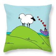 Black Faced Sheep 20150206 Throw Pillow