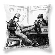Black Friday Cartoon, 1873 Throw Pillow