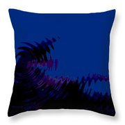 Black Gives Way To Blue Throw Pillow