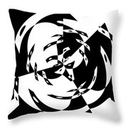 Black Gravity Throw Pillow