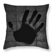 Black Hand Throw Pillow