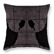 Black Hands Pink Throw Pillow