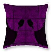 Black Hands Purple Throw Pillow