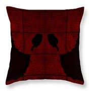 Black Hands Red Throw Pillow