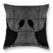 Black Hands  Throw Pillow