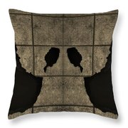 Black Hands Sepia Throw Pillow