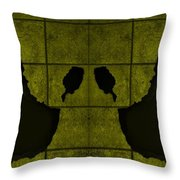 Black Hands Yellow Throw Pillow