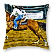 Black Hatted Racer Throw Pillow