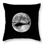 Black Hawk Moon Vertical Throw Pillow