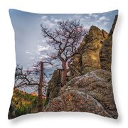 Black Hills Boulders Throw Pillow