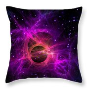 Black Hole In Space Throw Pillow
