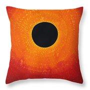 Black Hole Sun Original Painting Throw Pillow