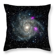 Black Holes In Spiral Galaxy Nasa Throw Pillow by Rose Santuci-Sofranko