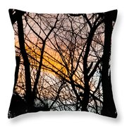 Black Ink Light  Throw Pillow