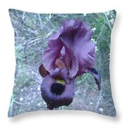 Black Iris Throw Pillow