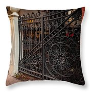Black Iron And Red Brick Throw Pillow