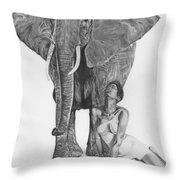 Black Ivory Throw Pillow
