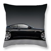 Black Jag Throw Pillow