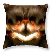 Black Leather Kaleidoscope Throw Pillow