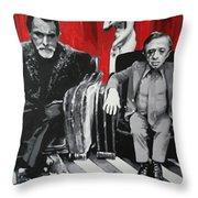 Black Lodge Throw Pillow by Ludzska