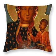 Black Madonna Of Czestochowa Throw Pillow