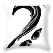 Black Magic 300 - Black And White Art Throw Pillow