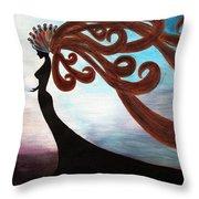Black Magic Woman Throw Pillow