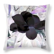 Black Magnolia Throw Pillow