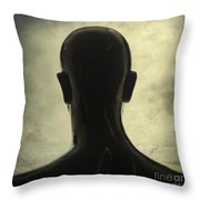 Black Mannequin Throw Pillow by Bernard Jaubert
