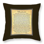 Black Matted Fossillized Desiderata Throw Pillow