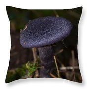 Black Mushroom Throw Pillow