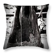 Black N White Chaps Throw Pillow