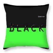 Black Neongreen Art Throw Pillow