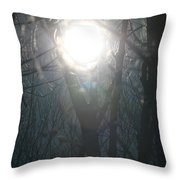 Black On Sun   Throw Pillow