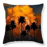 Black Palms At Dusk Throw Pillow