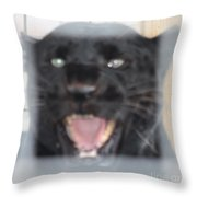 Black Panther Caged And Angry Throw Pillow